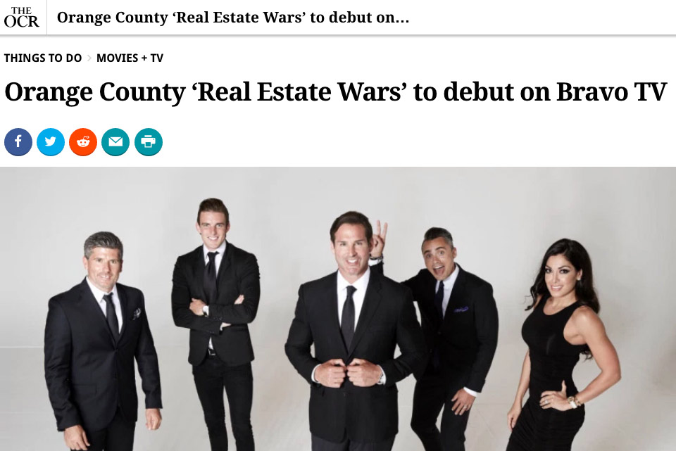 Press - Hodarealty - OCR OC Real Estate Wars to debut on Bravo TV 05-18-2017