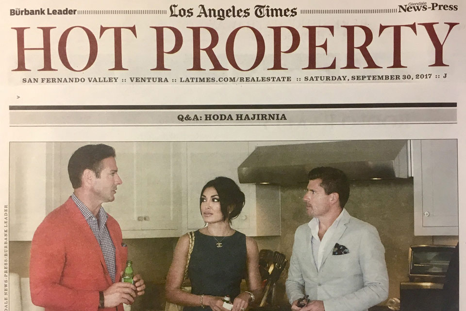 Press - Hodarealty - Hoda Hajirnia in LA Times 09-30-2017 Print