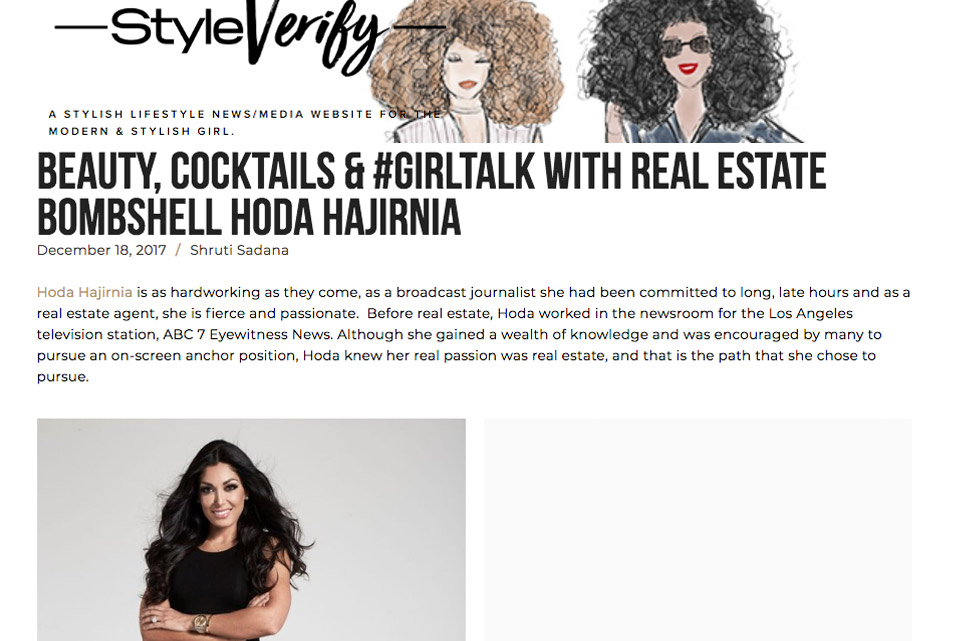 Beauty, Cocktails & #Girltalk with Real estate bombshell Hoda Hajirnia